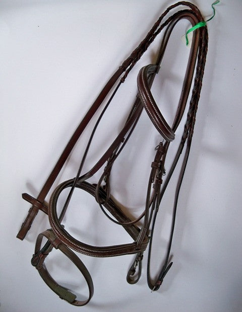HDR Padded Bridle w Reins - Cob