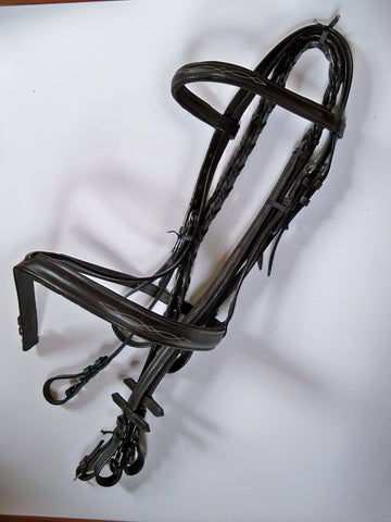 Padded Bridle - with Stitching & Reins