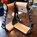 Aluminum and Black Stirrups Western
