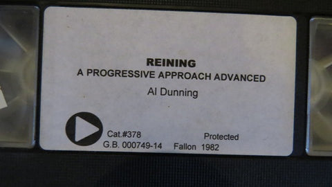 Al Dunning - 2 VHS Set - Used - Reining - A Progressive Approach