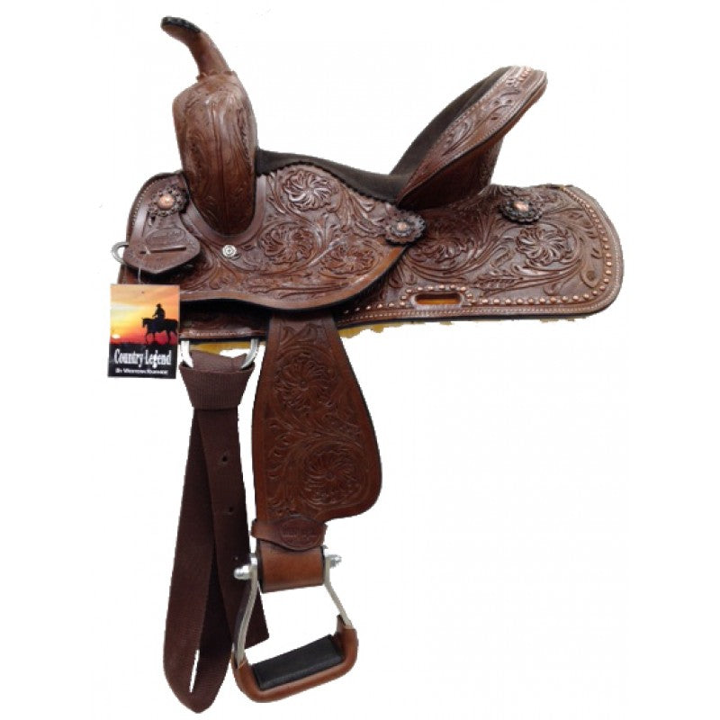 "Western Saddle - Rusty 12"" Kids"