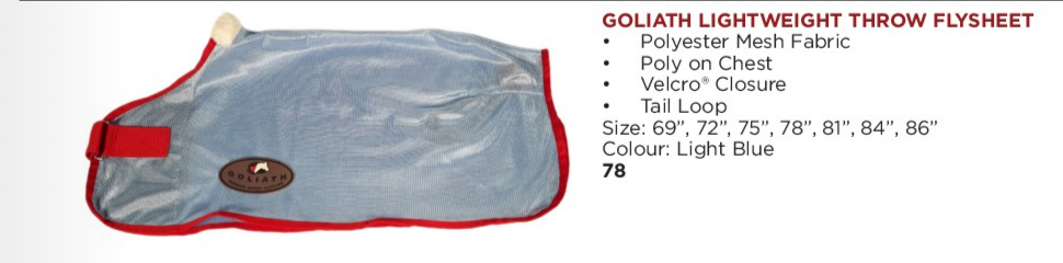 Goliath lightweight Throw Fly Sheet