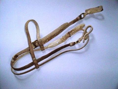 Braided Leather Headstall & Reins