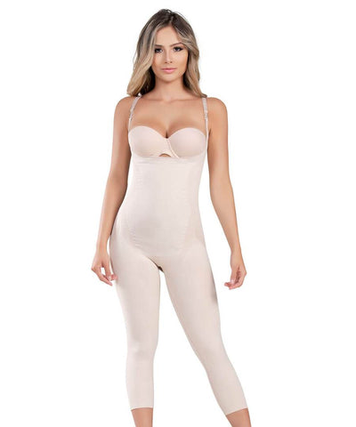 Fajate CYSM 1586 Seamless Body Shaper Compress Slimming Thermal Bodysuit Fajas Colombianas