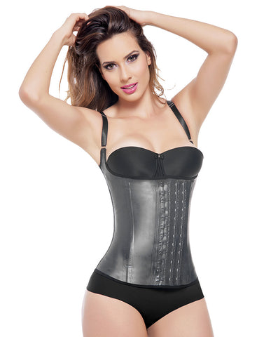 Ann Michell 2028D Sport Semi Vest Latex 3 Hooks Waist Cincher / Chaleco Latex