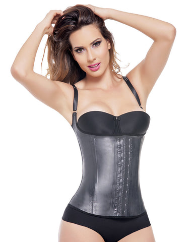 Ann Michell 2028 Sport Semi Vest Latex 2 Hooks Waist Cincher / Chaleco Latex