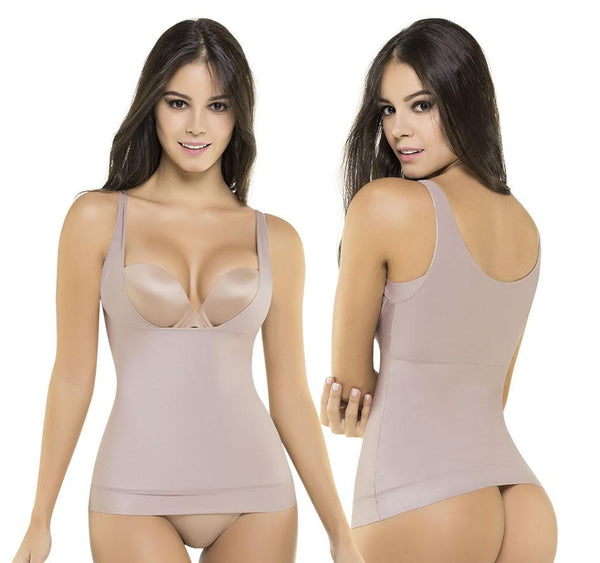Fajate CYSM 601 Ultra Flex 2 in 1 Extra Smooth Curve Definition Compression Camisole