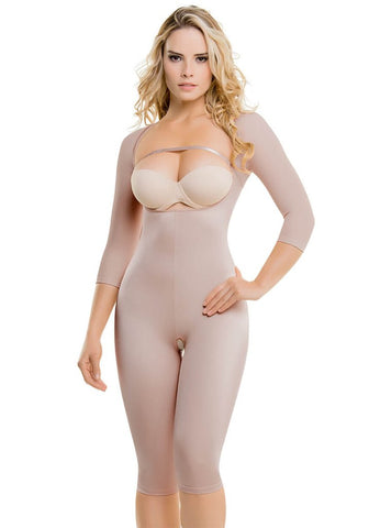 Fajate CYSM 608 Ultra Flex Firm Control Arms Sleeves & Butt Lift Full  Bodysuit