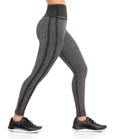 CYSM 902 Ultra Compression and Abdomen Control Fit Leggings Grey Jaspe