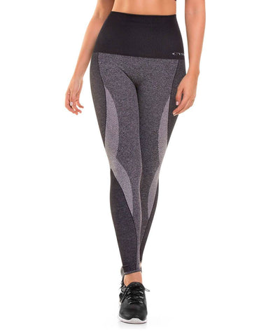 CYSM 907 Ultra Compression and Abdomen Control Fit Leggings Grey Jaspe