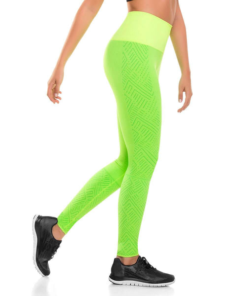 CYSM 908 Ultra Compression and Abdomen Control Fit Leggings Green