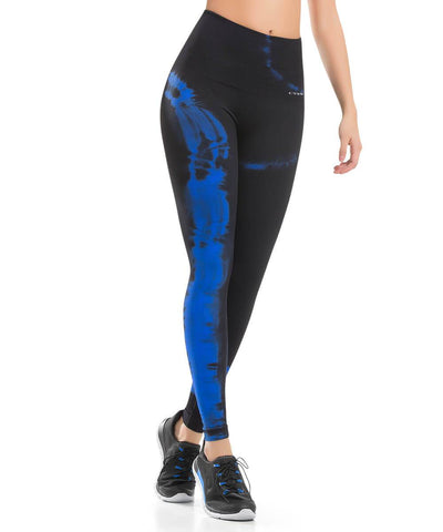 CYSM 928- Ultra Compression and Abdomen Control Fit Legging Deep Blue