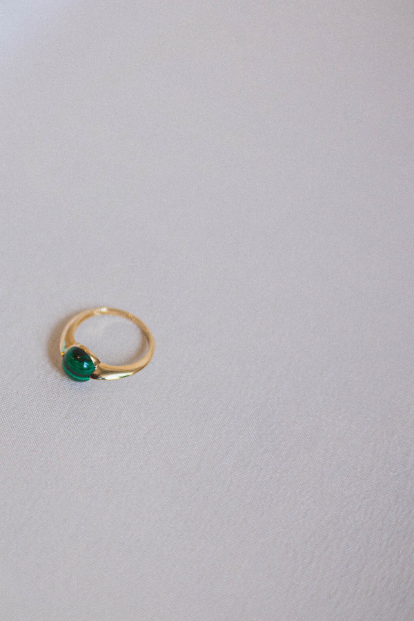 AVAN Malachite Gold Ring