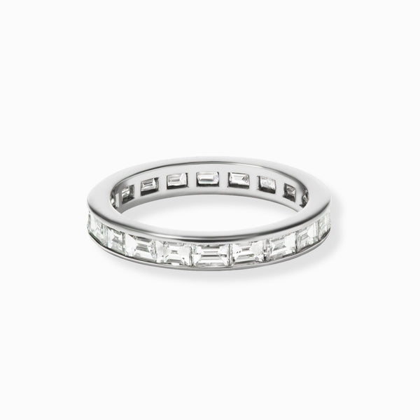 LUMI Baguette Diamond Platinum Eternity Band
