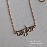 Name Plate Drop Necklace