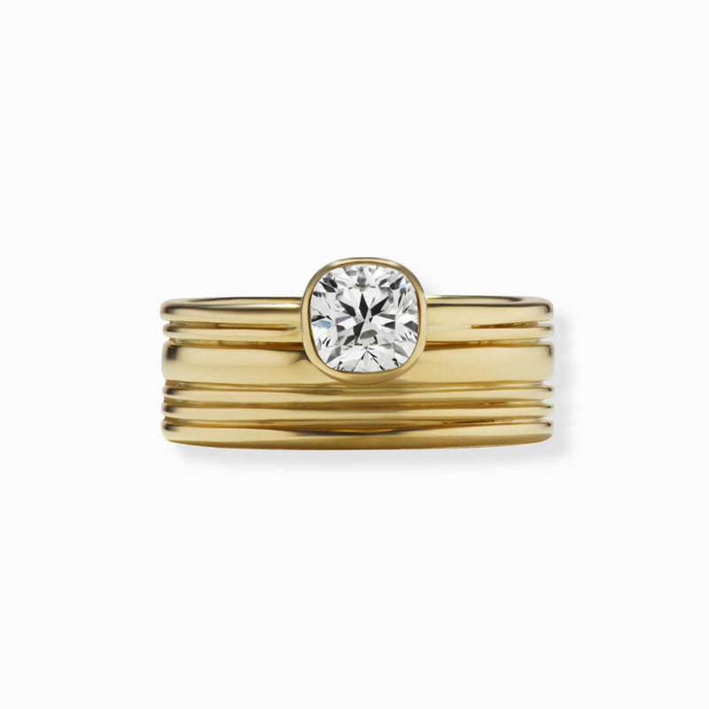MIKO Stacked Bezel Set Diamond Ring