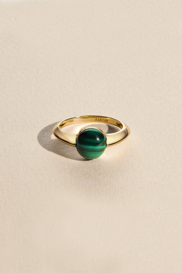 AVAN Malachite 14KT Gold Ring