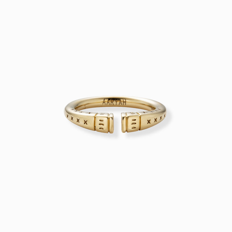 URA Tribal Ring 14KT Yellow Gold