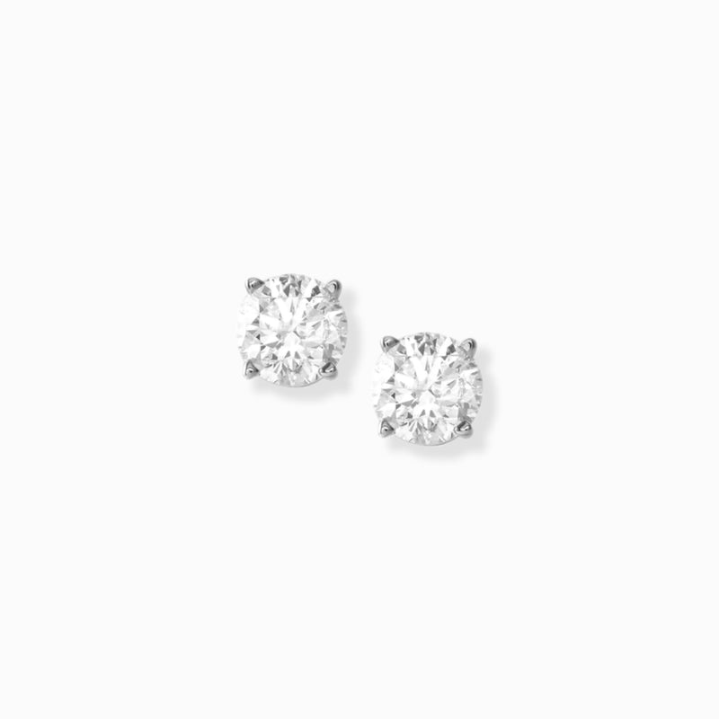Classic Diamond Studs in Platinum
