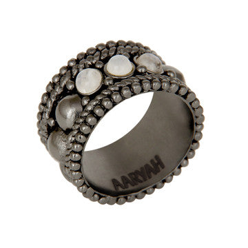 Naima Gunmetal Ring