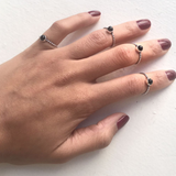Niya Oxidized Silver Midi Ring