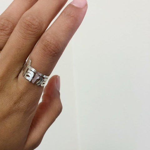 Custom Wrap Name Ring