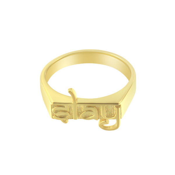 SLAY Mini nameplate ring