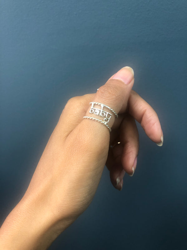 Baby Twisted Wire Ring - Rose Gold