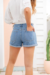 CALIFORNIA MUM DENIM SHORTS