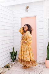 CLOVER BOHO DRESS - YELLOW