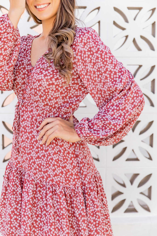 ISLA BOHO DRESS - BERRY