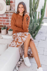 VANESSA CABLE KNIT - RUST