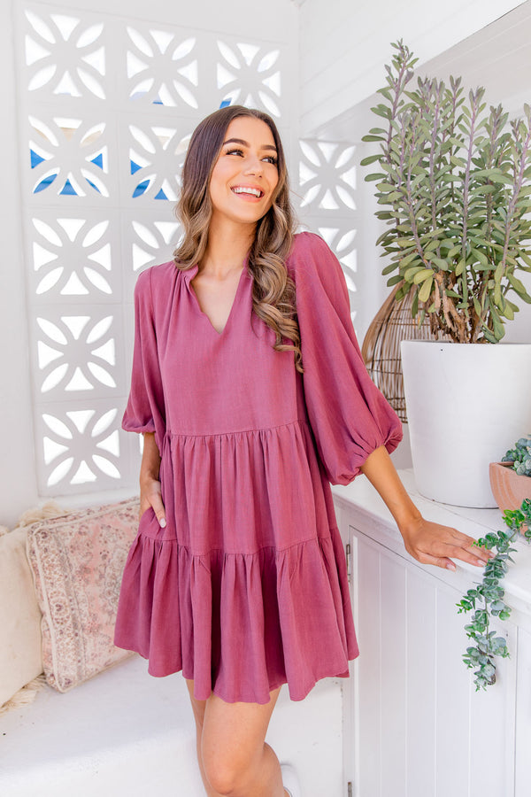 IMANI DRESS - ROSE