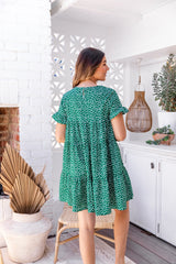 JOY DRESS - FOREST GREEN