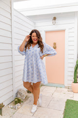 PIA TUNIC DRESS - BLUE