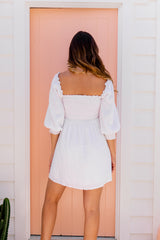 GABRIELLA DRESS - WHITE
