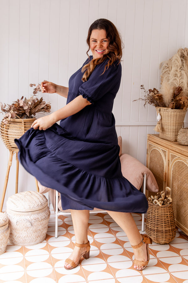 ISABEL MAXI DRESS - NAVY
