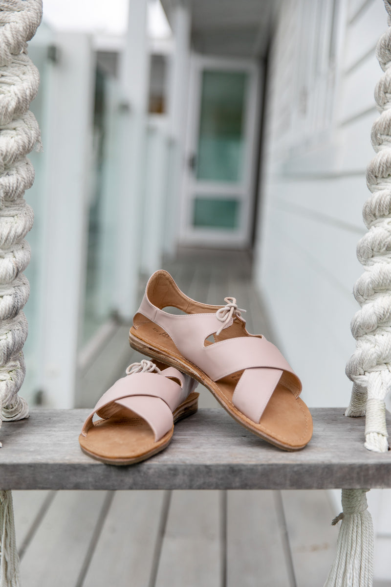 WEIPA LEATHER SANDALS - BLUSH