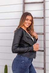 CINDI FAUX LEATHER JACKET