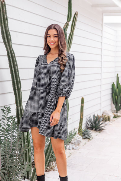 ISABELLA DRESS - PINK GINGHAM