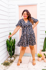ARLO DRESS - NAVY FLORAL