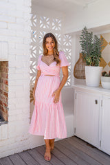 NIXI DRESS - PINK GINGHAM