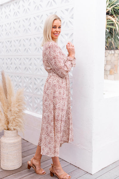 TEYLA DRESS- PINK FOLK PRINT