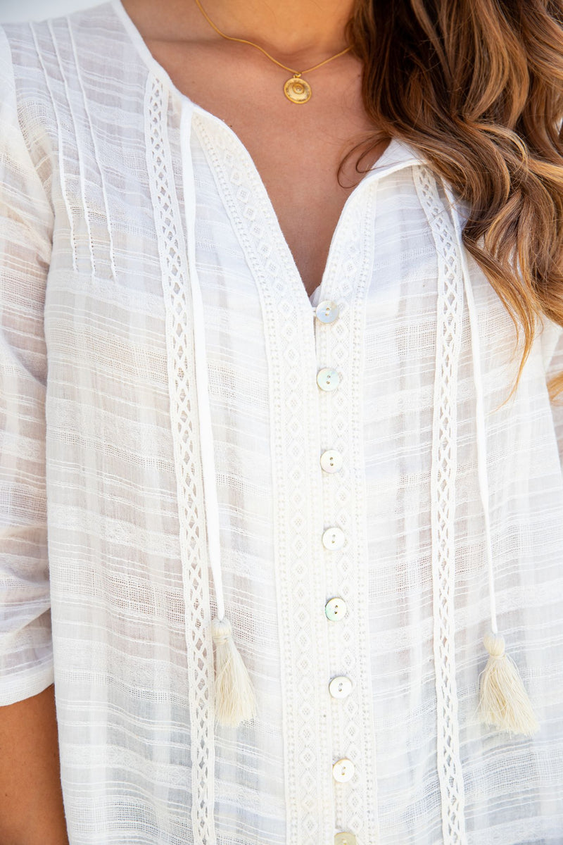 HAVEN BOHO TOP - WHITE