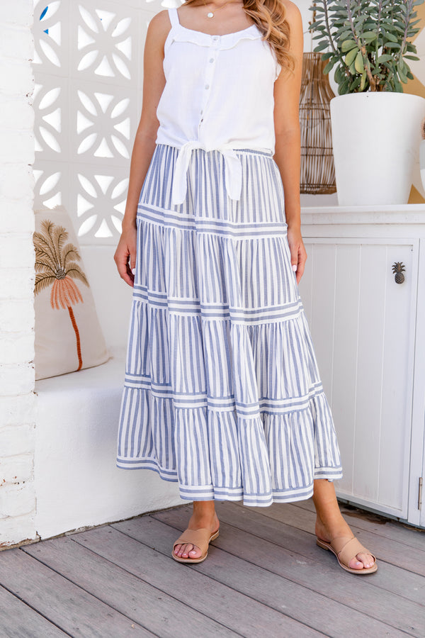 HAYMAN MAXI SKIRT - BLUE