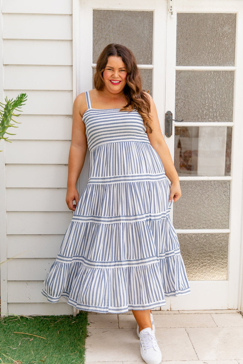 MIRANDA MAXI DRESS - BLUE