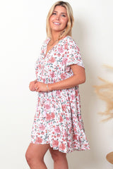 BYRON BOHO DRESS - WHITE ROSE