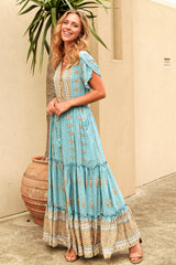 SEPHORA BOHO MAXI DRESS - BLUE