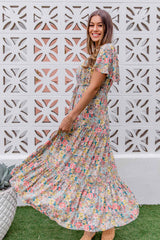 ELLIOT BOHO MAXI DRESS - MULTI FLORAL