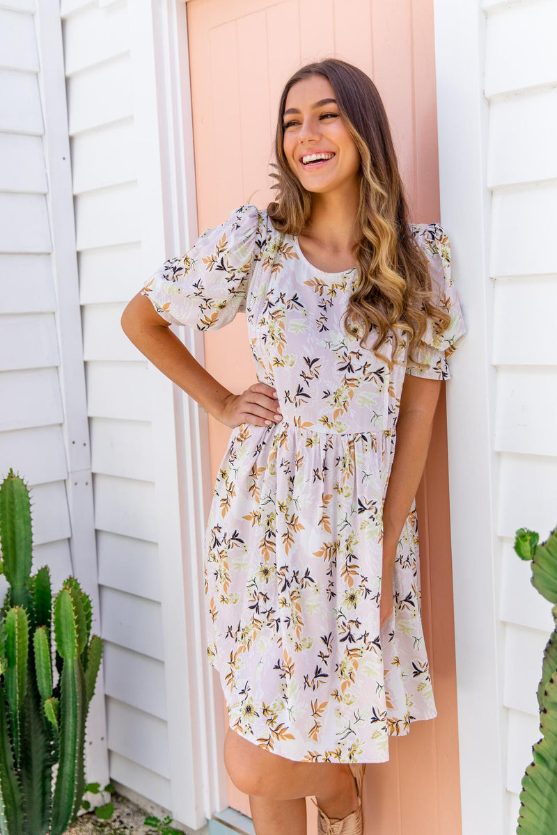 LUCILLA BOHO DRESS - BEIGE
